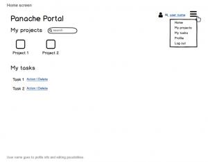 Panache Project Portal App